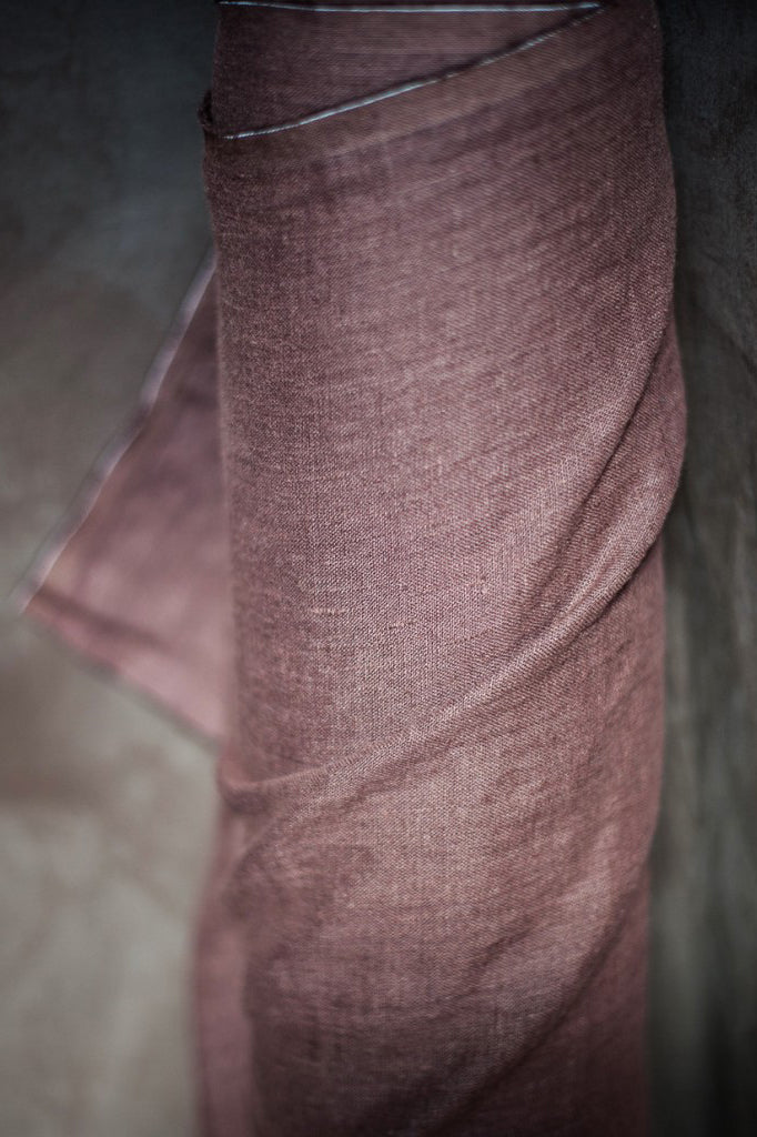 "Merchant & Mills, ""Oxblood""  Laundered European Linen,1/2 yard"