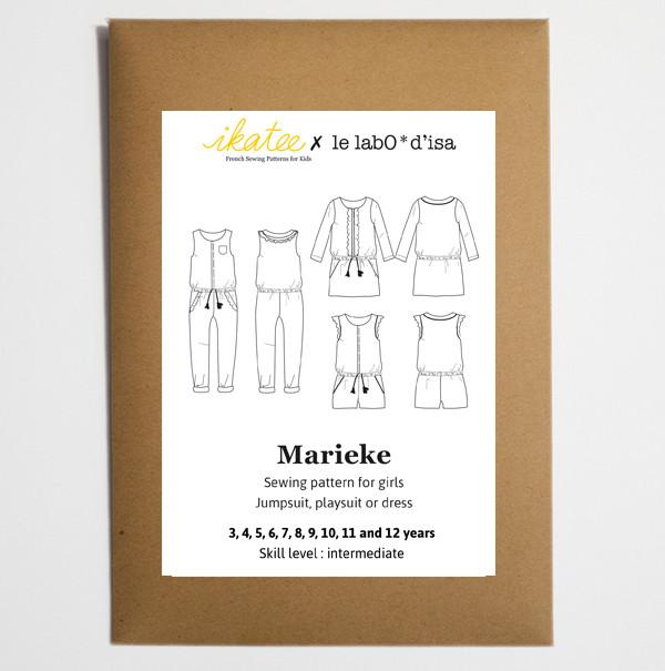 Ikatee (France), Marieke Jumpsuit, Playsuit, & Dress Sewing Pattern - Girl, 3-12Y
