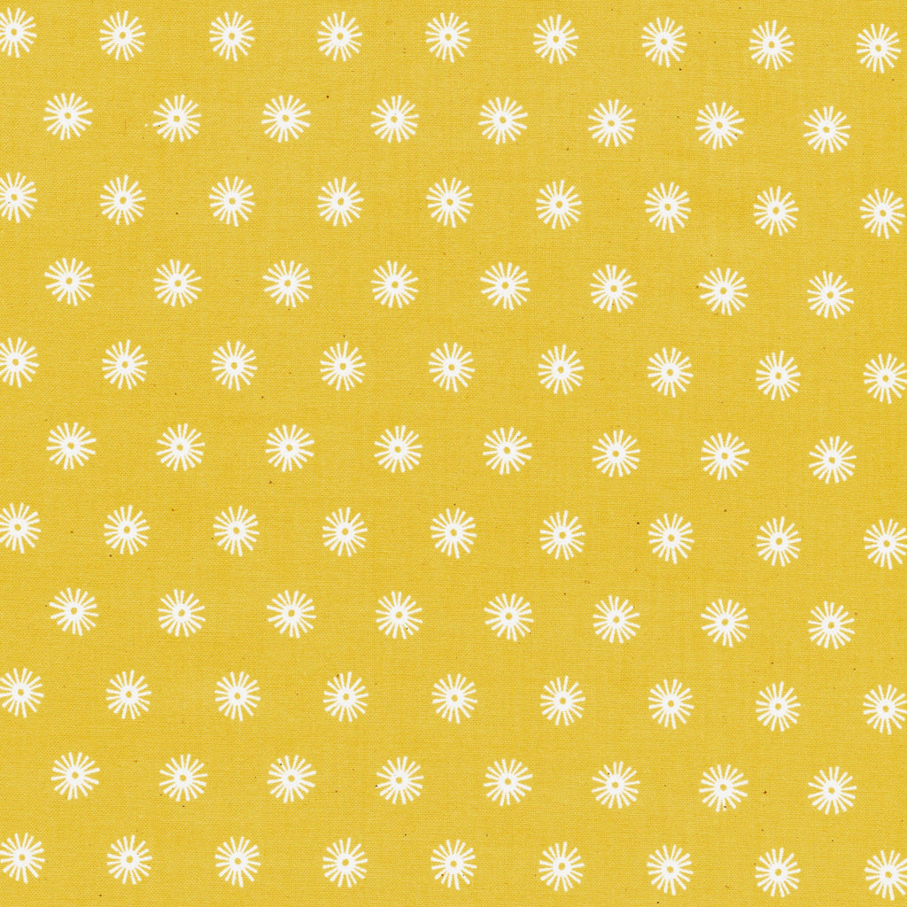 Kujira & Star - Sea Urchin - Sunshine Unbleached Cotton Fabric, 1/2 yard - Lakes Makerie - Minneapolis, MN