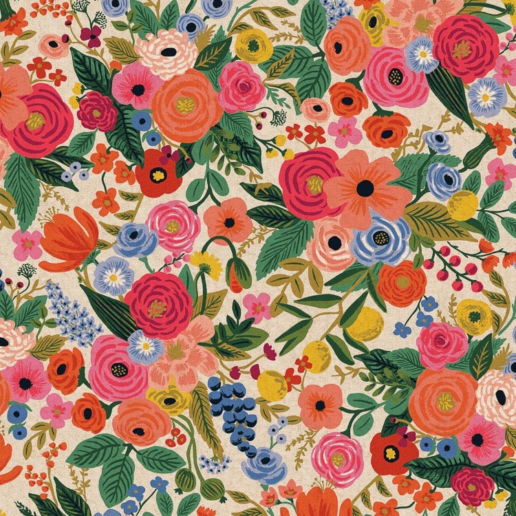 Rifle Paper Co., Wildwood Garden Party Pink Canvas Fabric, 1/2 yard - Lakes Makerie - Minneapolis, MN