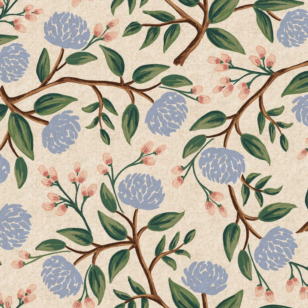 Rifle Paper Co., Wildwood Peonies Cream Canvas Fabric - Lakes Makerie - Minneapolis, MN