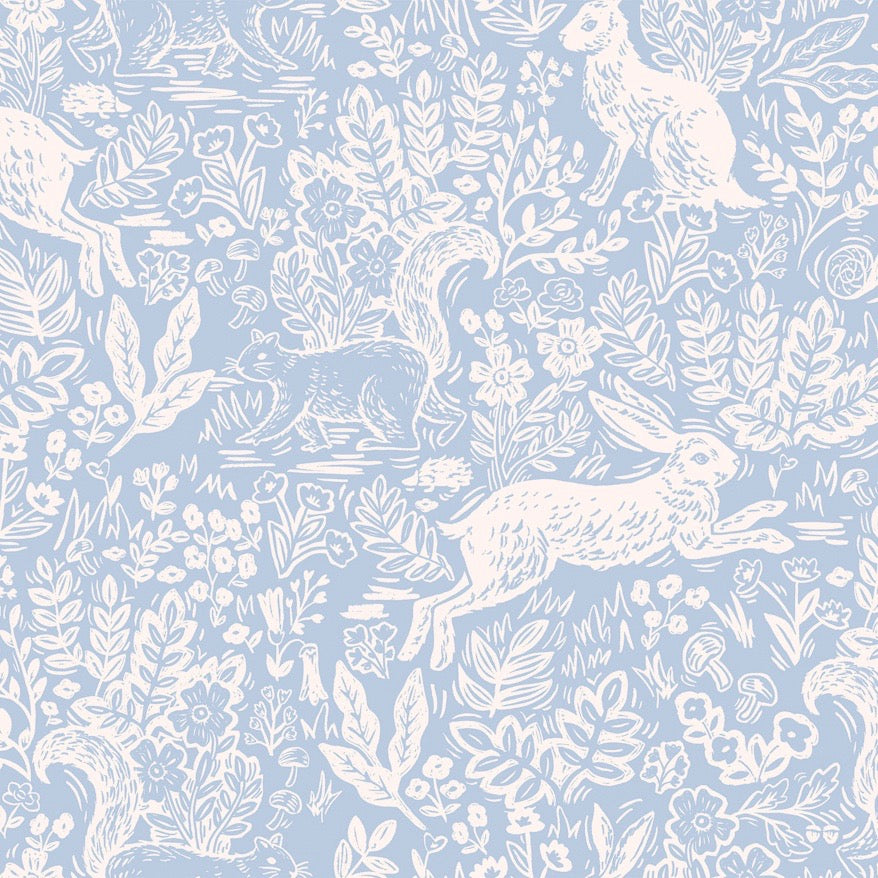 Rifle Paper Co., Wildwood Fable Blue Fabric, 1/2 yard - Lakes Makerie - Minneapolis, MN