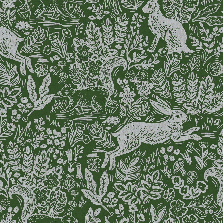 Rifle Paper Co., Wildwood Fable Leaf Canvas Fabric - Lakes Makerie - Minneapolis, MN