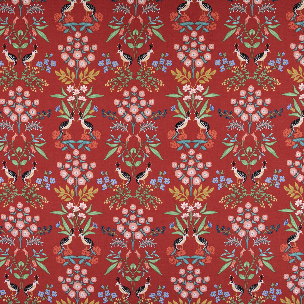 Rifle Paper Co., Meadow - Luxembourg - Red Fabric, 1/2 yard