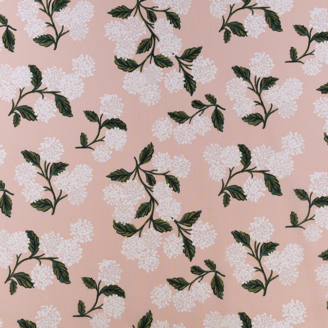 Rifle Paper Co. Meadow - Hydrangea -Blush Lawn Fabric  Fabric, 1/2 yard - Lakes Makerie - Minneapolis, MN