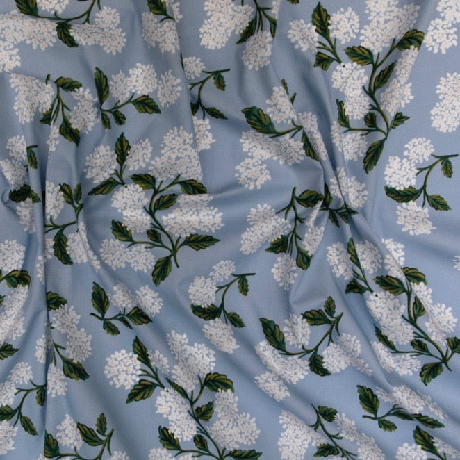 Rifle Paper Co. Meadow - Hydrangea - Light Blue Lawn Fabric  Fabric, 1/2 yard - Lakes Makerie - Minneapolis, MN