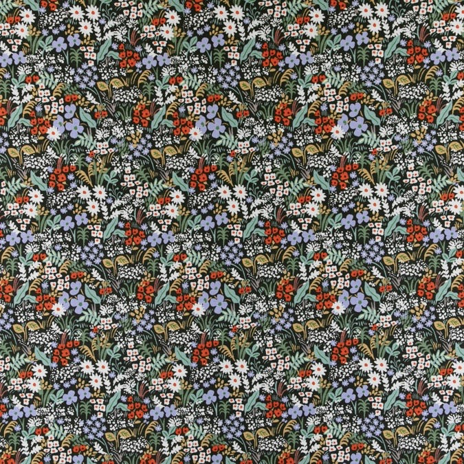 Rifle Paper Co, Meadow - Meadow - Hunter  Fabric, 1/2 yard