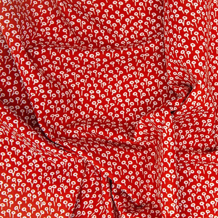 Rifle Paper Co. Basics- Tapestry Dot- Rifle Red Fabric, 1/2 yard