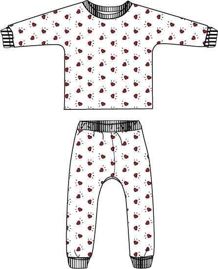 Ikatee (France), Sacha PJ Set Sewing Pattern - Child, 3-12Y