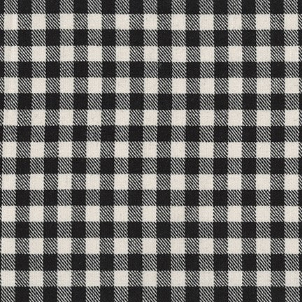 Sevenberry Classic Plaid Twill Cotton Fabric, Black and White Check, 1/2 yard - Lakes Makerie - Minneapolis, MN
