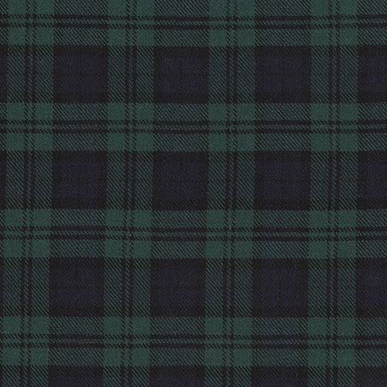 Sevenberry Classic Plaid Twill Cotton Fabric, Hunter Plaid, 1/2 yard - Lakes Makerie - Minneapolis, MN