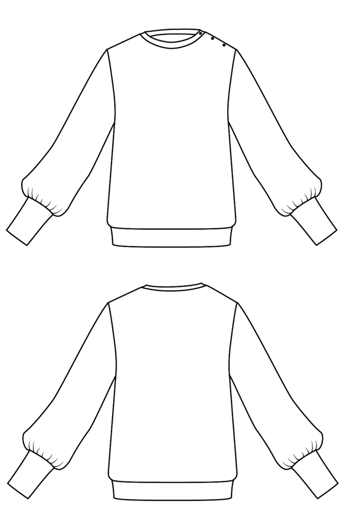 IAM Patterns, Zebre sweatshirt pattern - Lakes Makerie - Minneapolis, MN