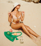 Soft Crochet Sun Hat - Nude White