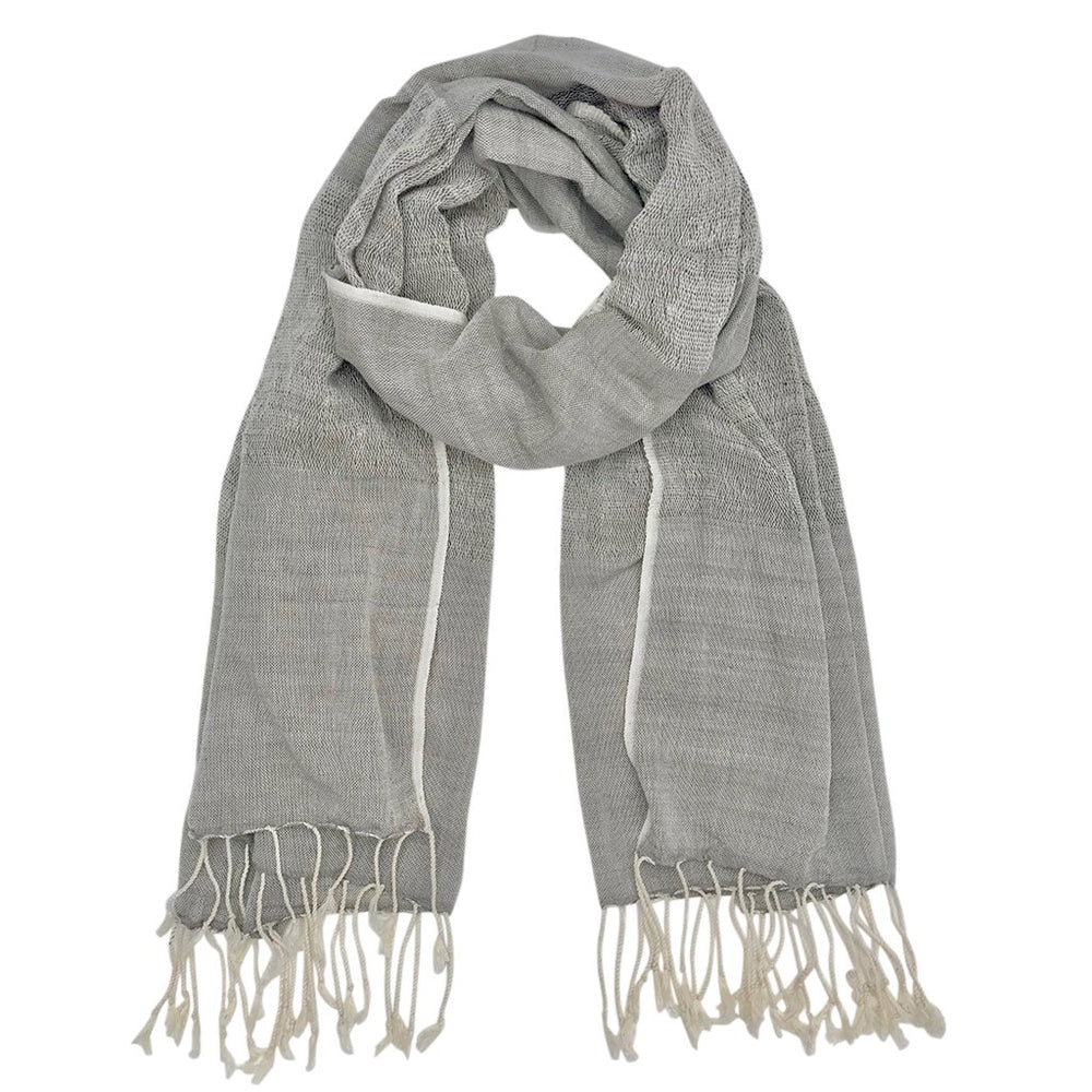 Gauze Cotton Scarf - Gray