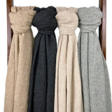 Hand-loomed Cashmere Scarf - Blush