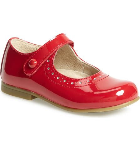 Footmates Emma Maryjanes Red Patent