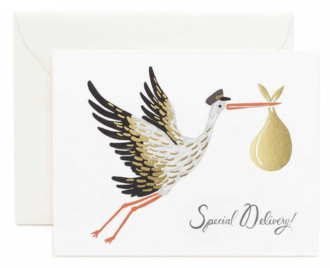 Rifle Paper Company Card - Special Delivery Stork