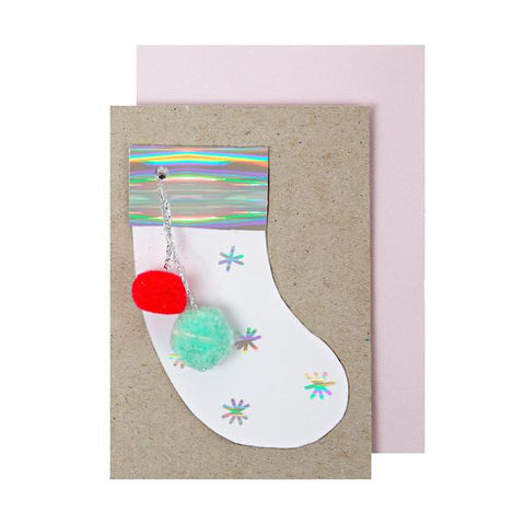MeriMeri Petite Stocking Enclosure Card