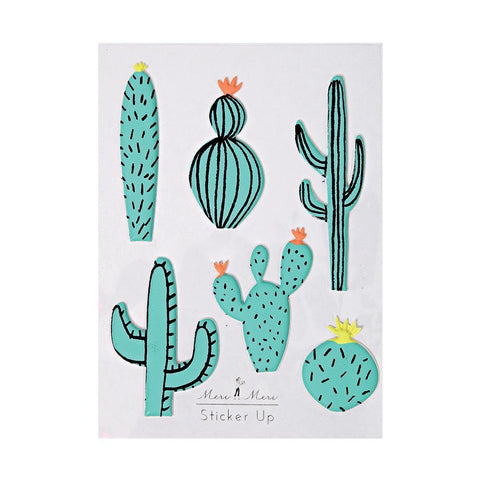 MeriMeri Sticker Sheet Puffy Cactus