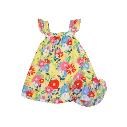 Angel Dear Superior Blend Floral Sun Dress with Diaper Cover