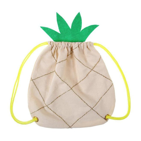 MeriMeri Pineapple Drawstring Rucksack Bag