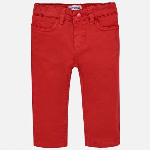 Mayoral Pants Red Twill