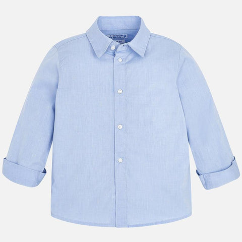 Mayoral Shirt Longsleeve Buttonup Light Blue Numbers