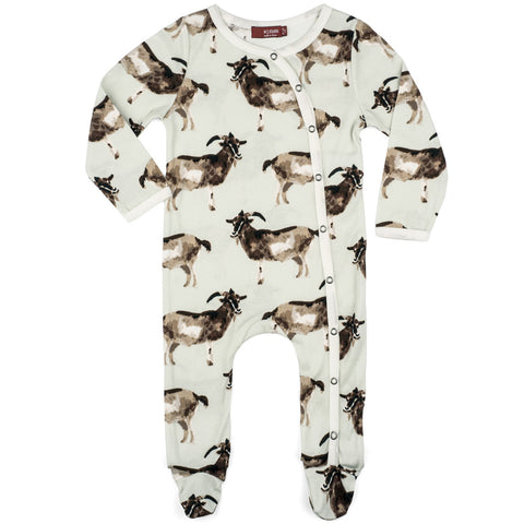 MilkBarn Organic Cotton Footie Goat