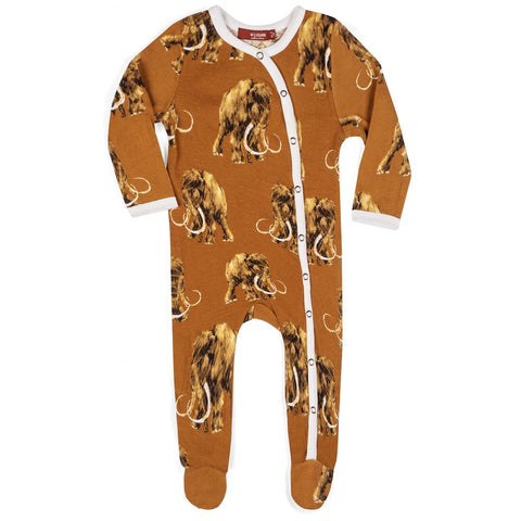 MilkBarn Organic Cotton Footie Wooly Mammoth
