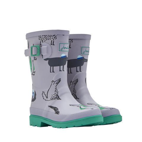 Joules Rain Boots Grey Wolf