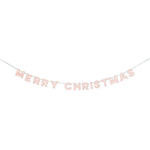 Meri Meri Merry Christmas Neon White Garland