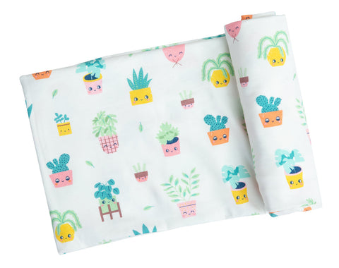 Angel Dear House Plants Swaddle Blanket