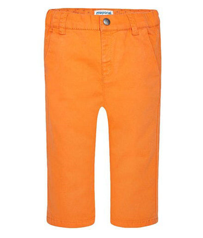 Mayoral Boys Basic Pants Bright Orange