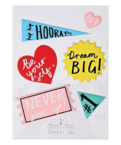 MeriMeri Sticker Sheet Puffy Affirmations