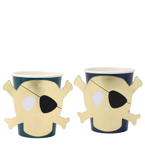 MeriMeri Party Cups Skull And Crossbones Set of 8