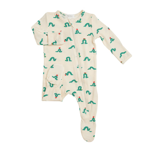Angel Dear Inchworm Zipper Footie