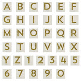 MeriMeri Gold Glitter Letters and Numbers Big Sticker