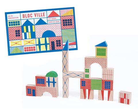 Moulin Roty Bloc Ville Large City Block Set