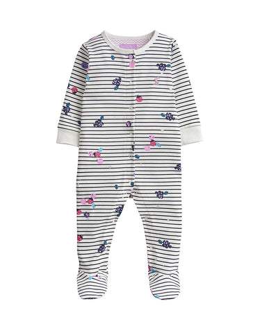 Joules Footie Berry Stripe