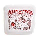 Stasher Sandwich Bag Red Circus
