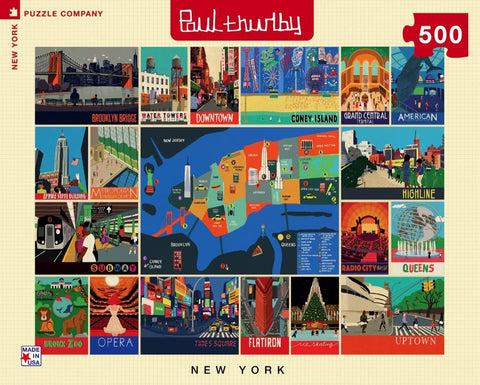 Paul Thurlby Puzzle 500 Piece New York