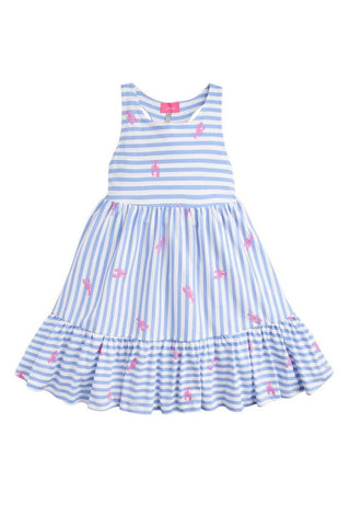 Joules Dress Blue Stripe Lobster
