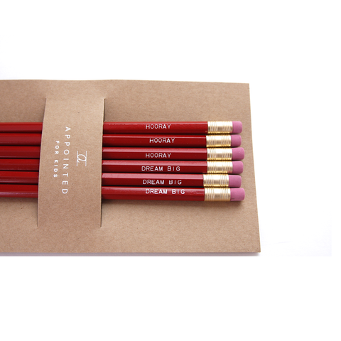 Appointed Kids Red Pencil Set
