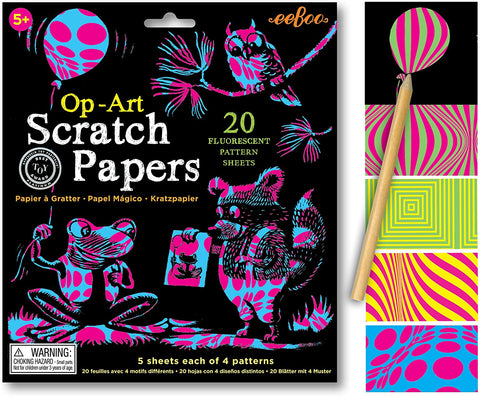 Eeboo Scratch Papers - Op Art