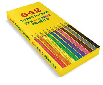 642 Big Things to Draw Set of 10 Color Pencils