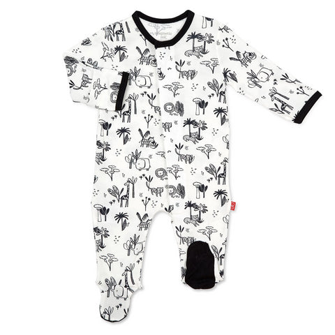 Magnetic Me Footie Black and White Animal Safari