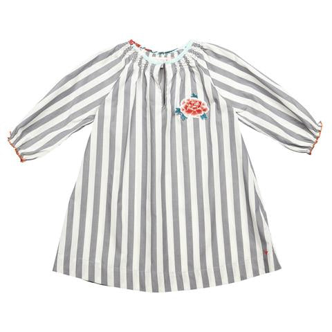 Pink Chicken Ava Dress Grey Stripe