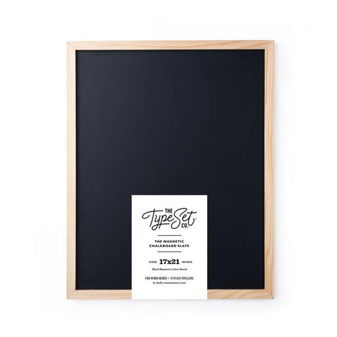 Type Set Magnetic Letter Board 17 x 21 Black