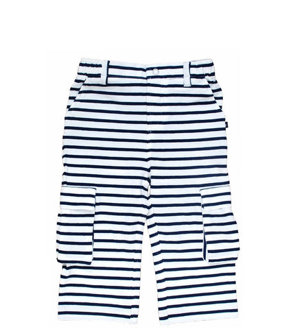 Toobydoo Pants Navy White Stripe Cargo
