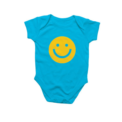 Rock Scissor Paper Onesie Blue Yellow Smiley Face